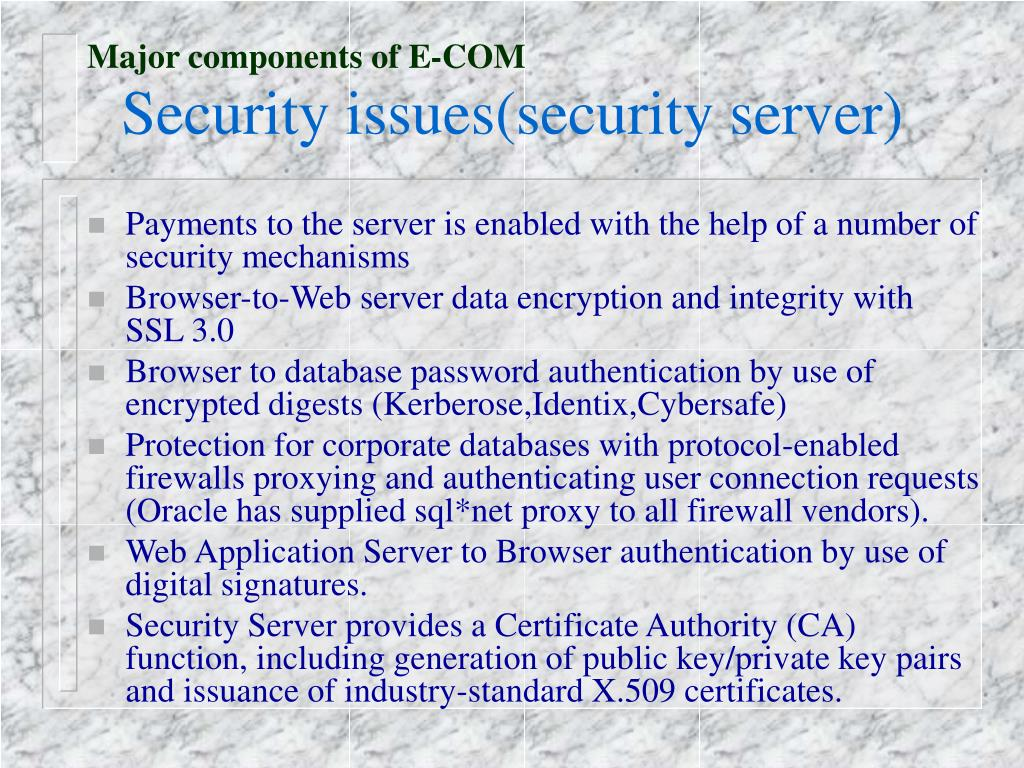 Major components of E-COM