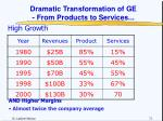 dramatic transformation of ge from products to services