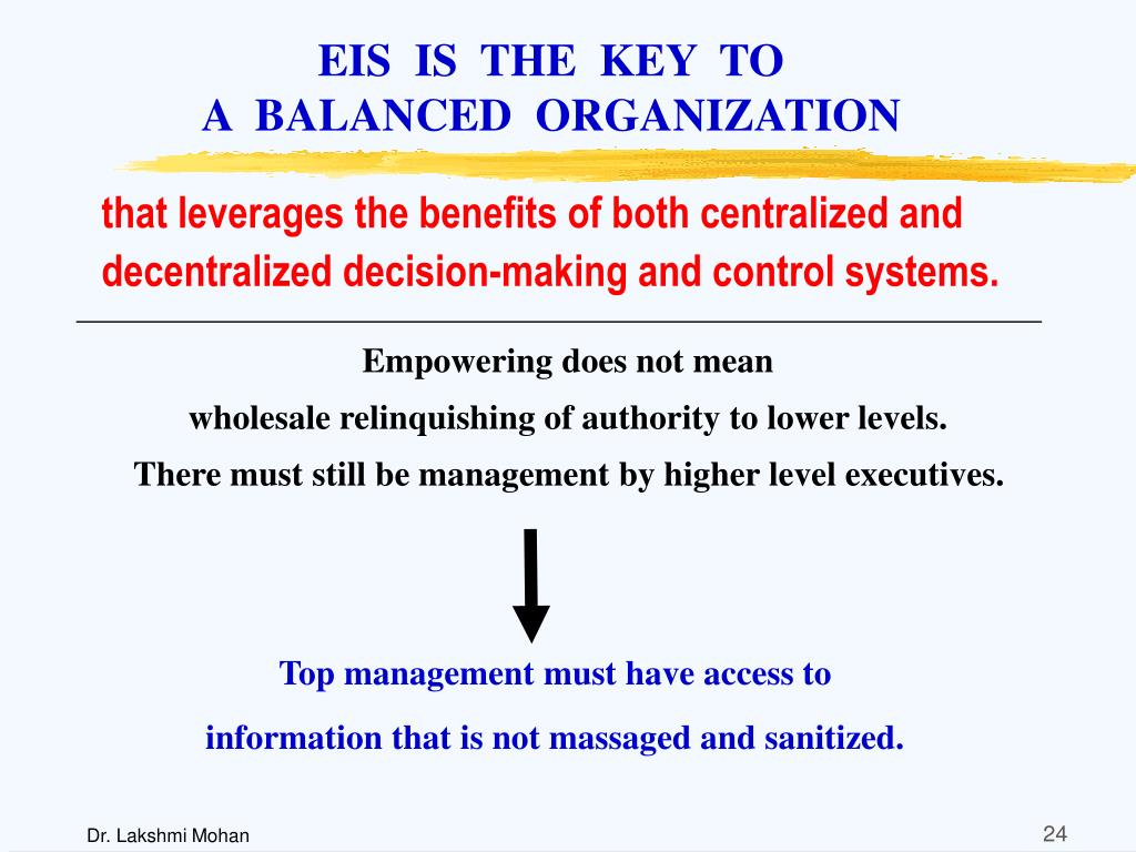 EIS  IS  THE  KEY  TO