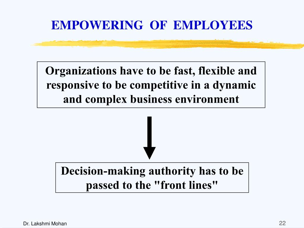 EMPOWERING  OF  EMPLOYEES