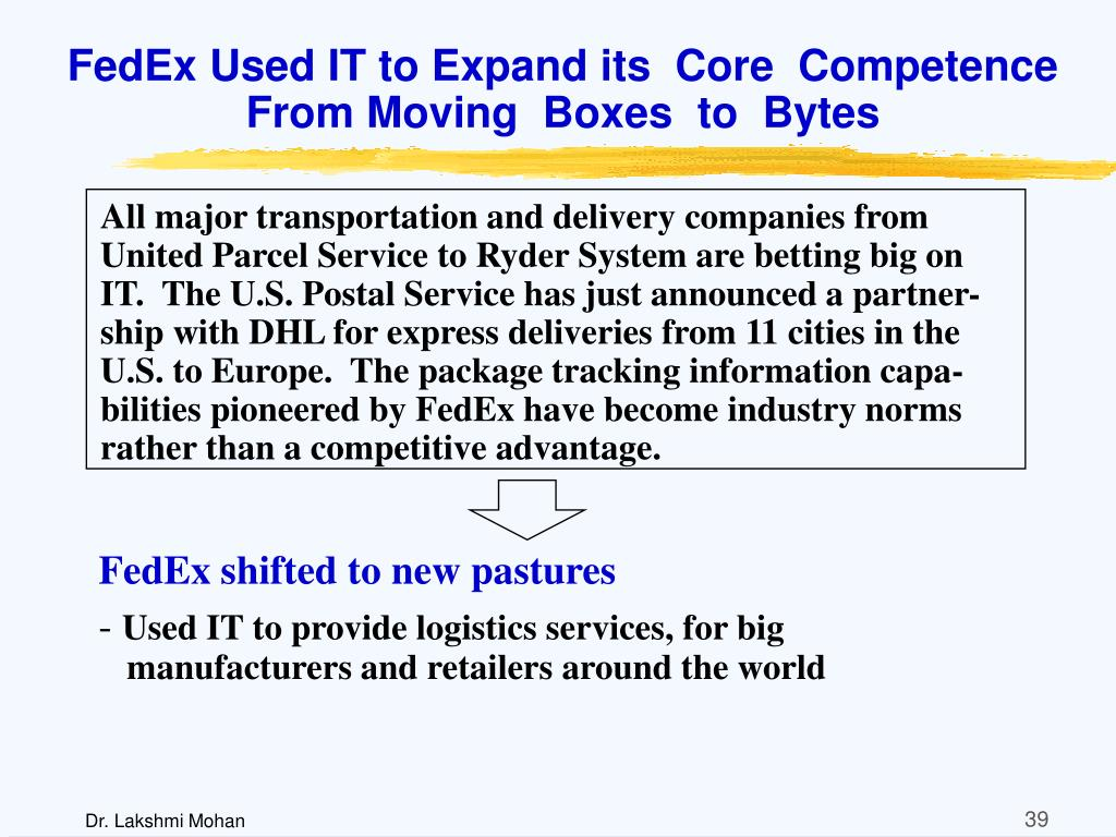 FedEx Used IT to Expand its  Core  Competence