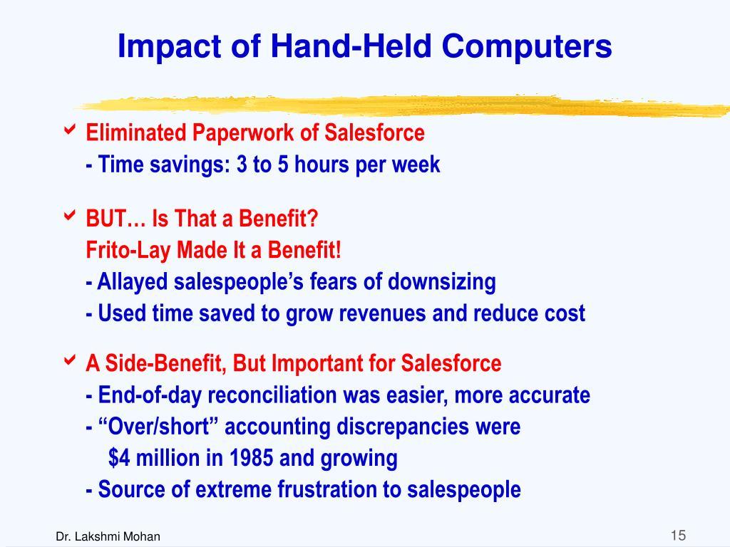 Impact of Hand-Held Computers