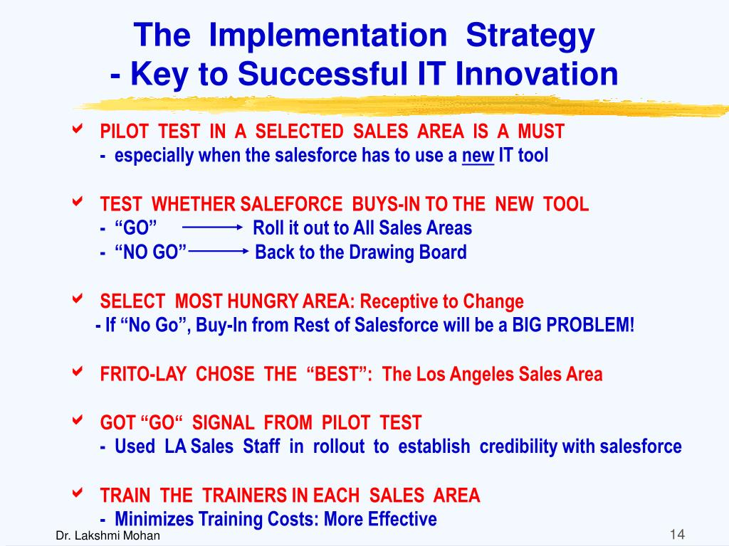 The  Implementation  Strategy