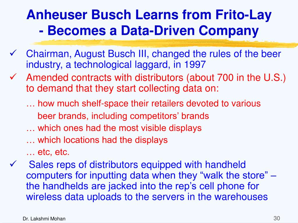 Anheuser Busch Learns from Frito-Lay