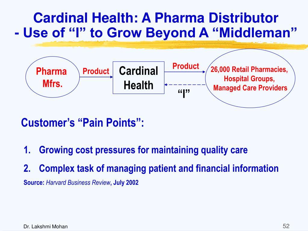 Cardinal Health: A Pharma Distributor
