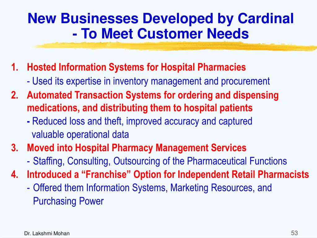 New Businesses Developed by Cardinal