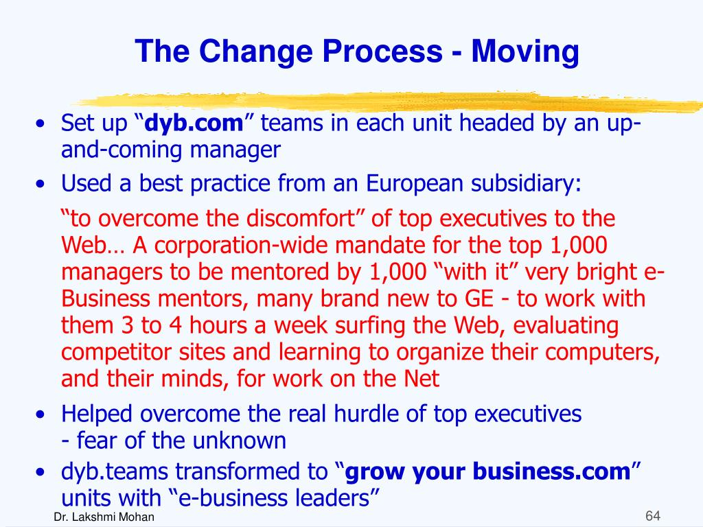 The Change Process - Moving