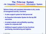the frito lay system an integrated everyone s information system