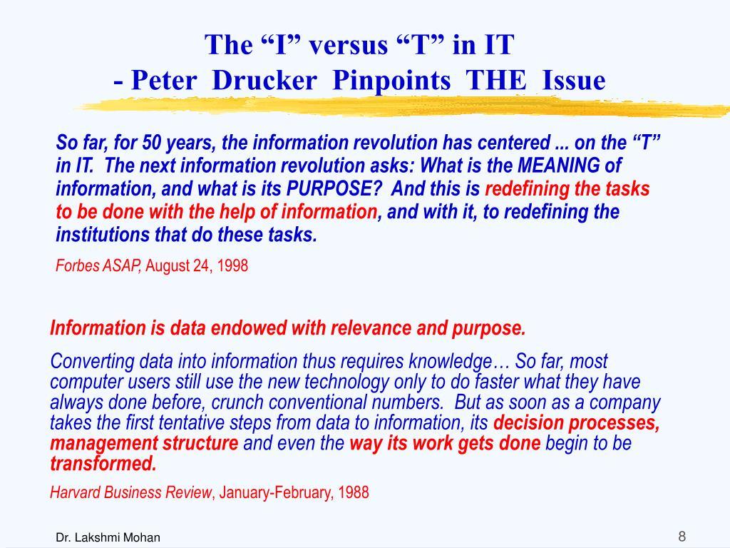 """The """"I"""" versus """"T"""" in IT"""