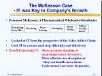 the mckesson case it was key to company s growth