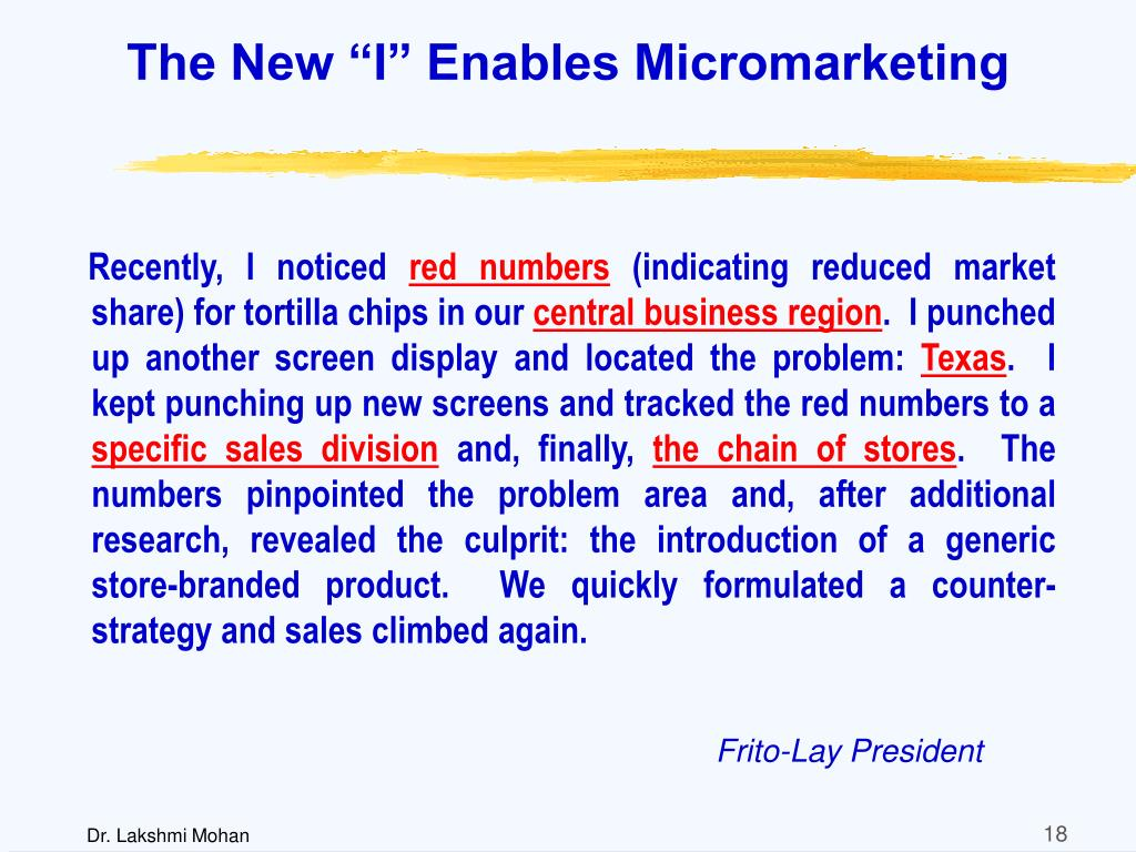 """The New """"I"""" Enables Micromarketing"""