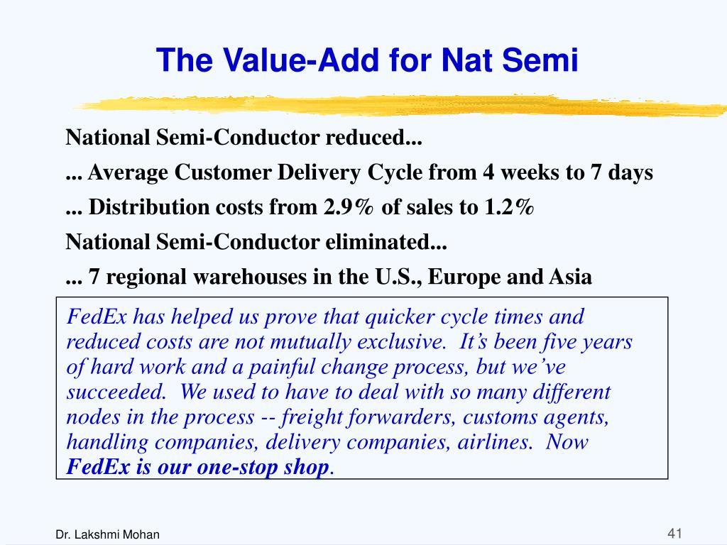 The Value-Add for Nat Semi