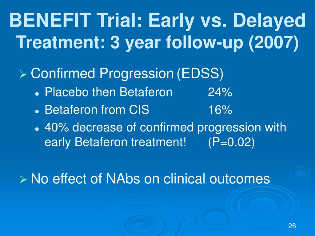 BENEFIT Trial: Early vs. Delayed