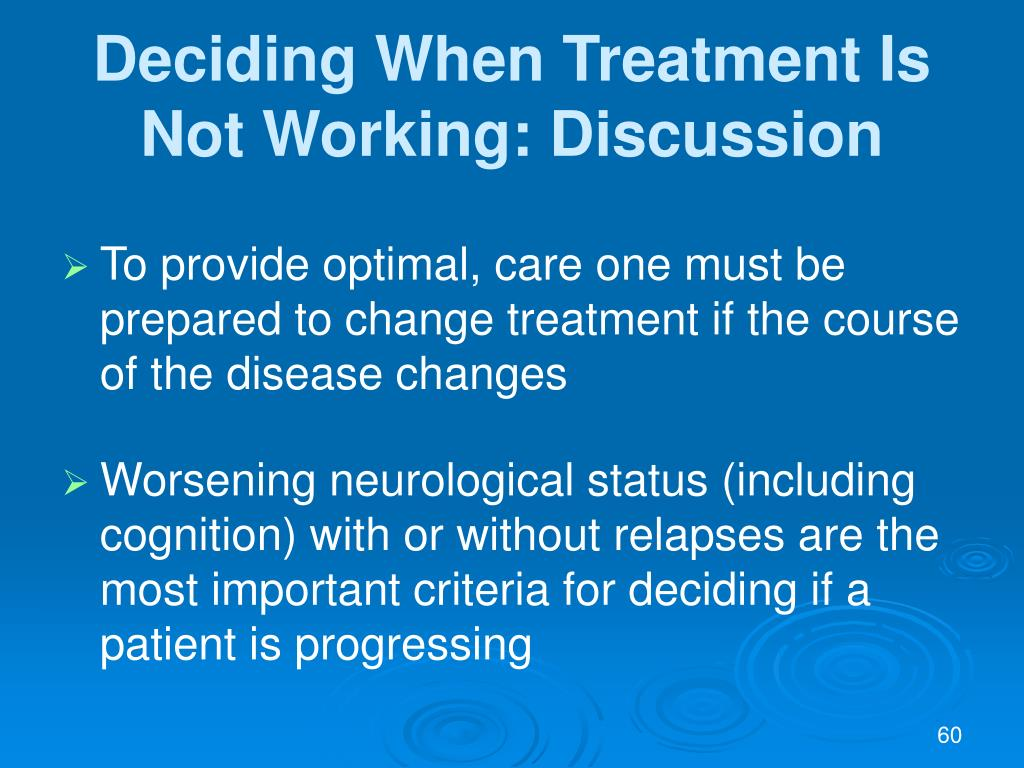 Deciding When Treatment Is Not Working: Discussion