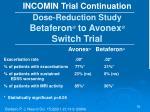 dose reduction study betaferon to avonex switch trial