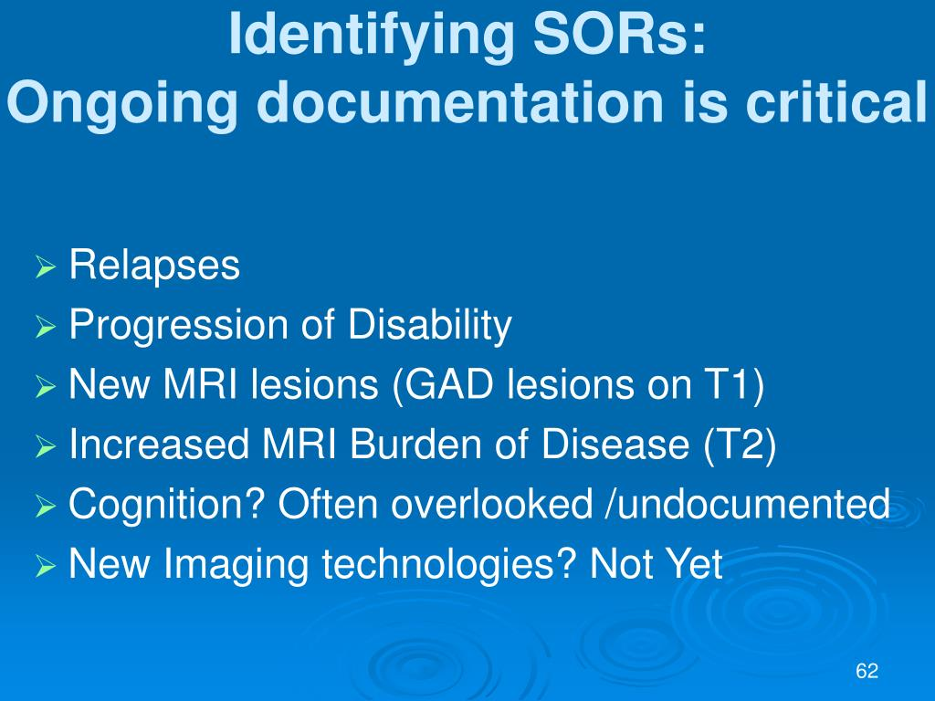 Identifying SORs: