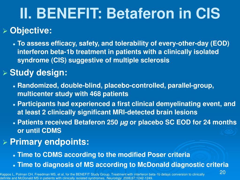 II. BENEFIT: Betaferon in CIS