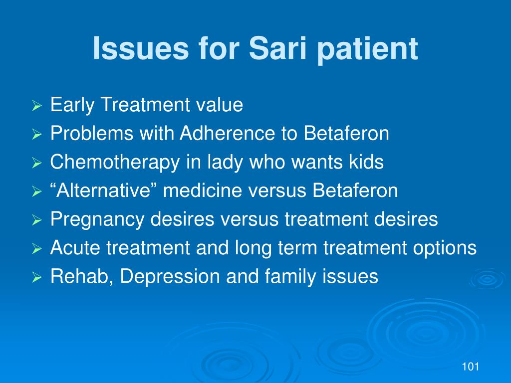 Issues for Sari patient