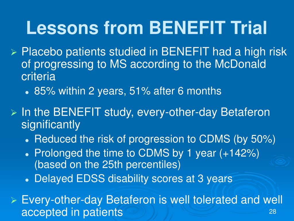 Lessons from BENEFIT Trial