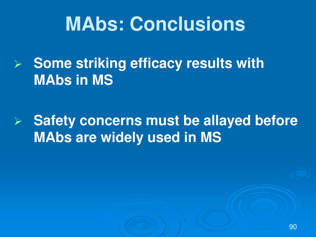 MAbs: Conclusions
