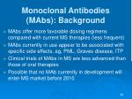 monoclonal antibodies mabs background