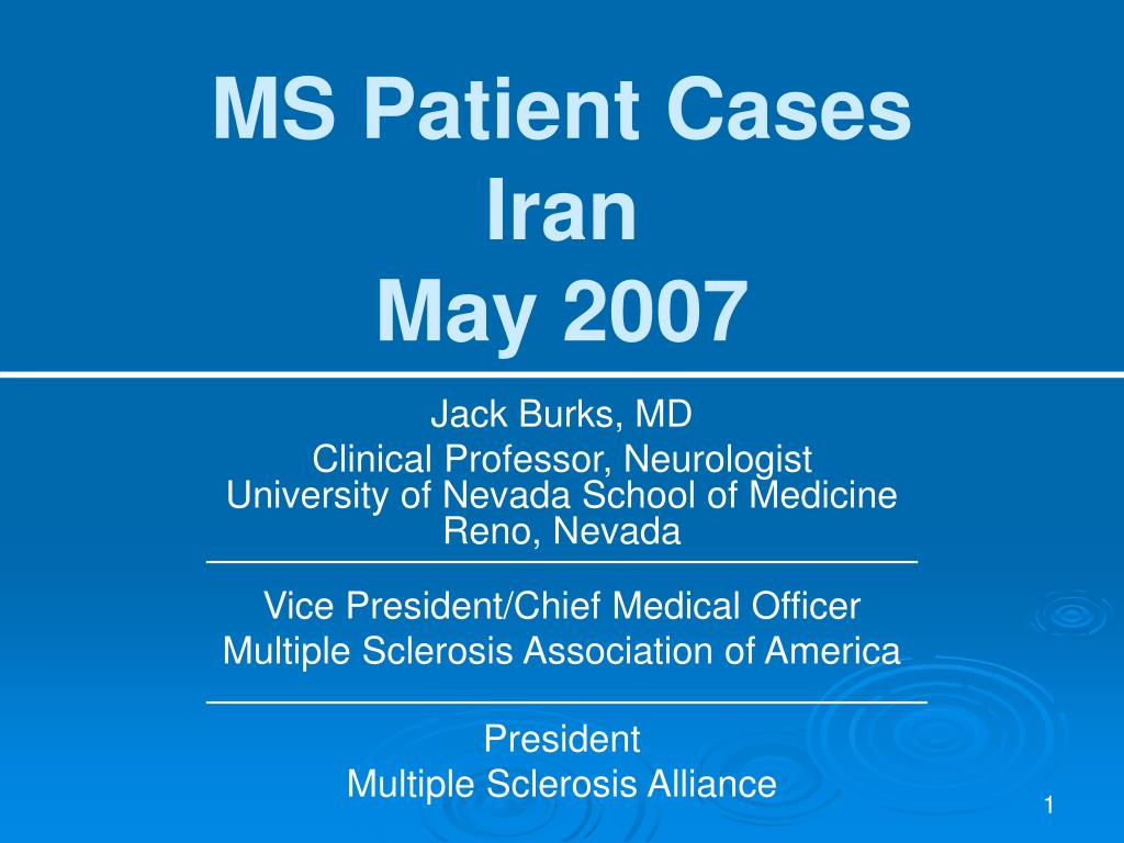 ms patient cases iran may 2007 l.