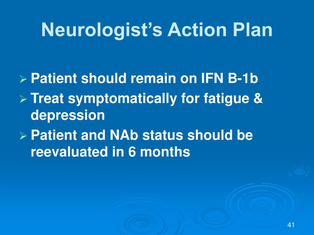 Neurologist's Action Plan