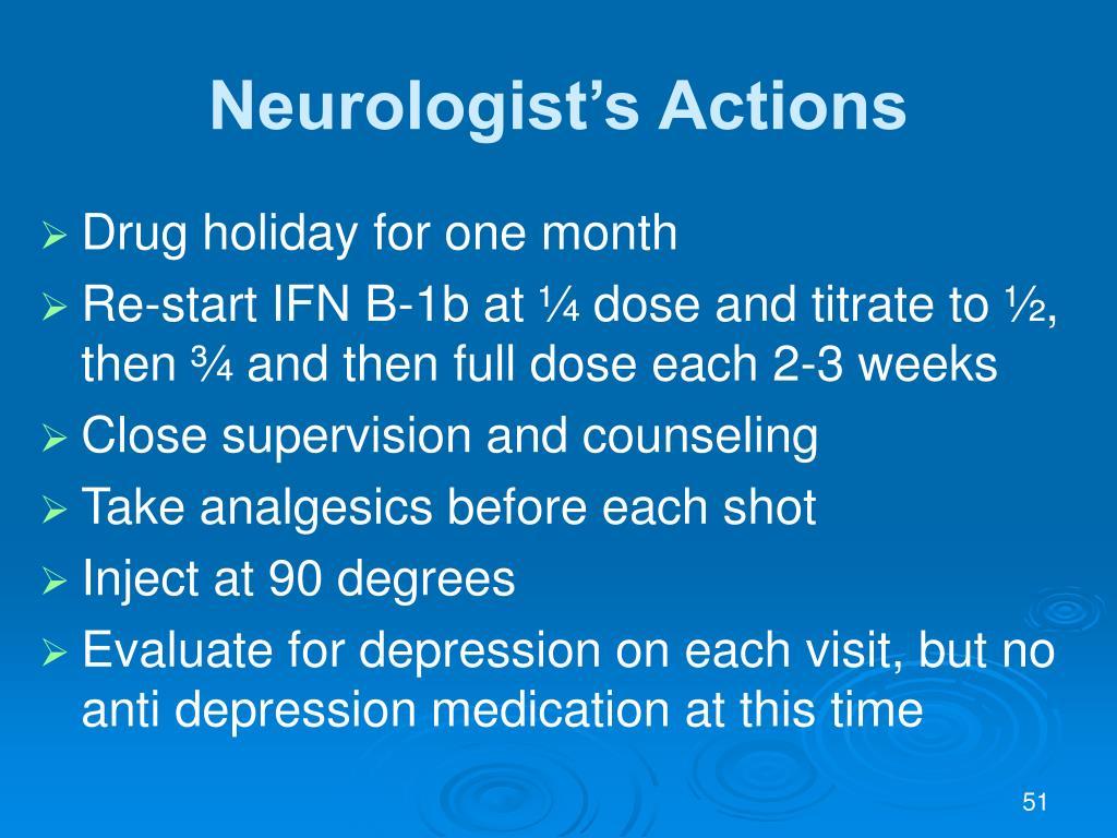 Neurologist's Actions