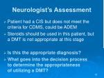neurologist s assessment