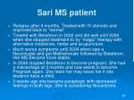 sari ms patient