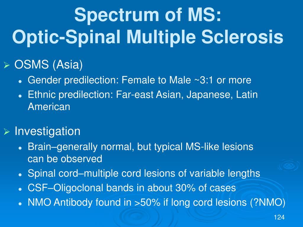 Spectrum of MS: