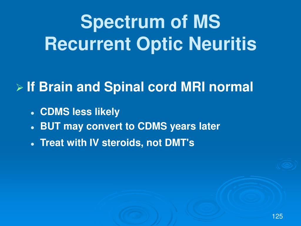 Spectrum of MS