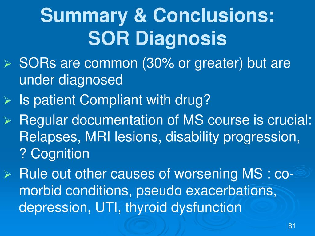 Summary & Conclusions:
