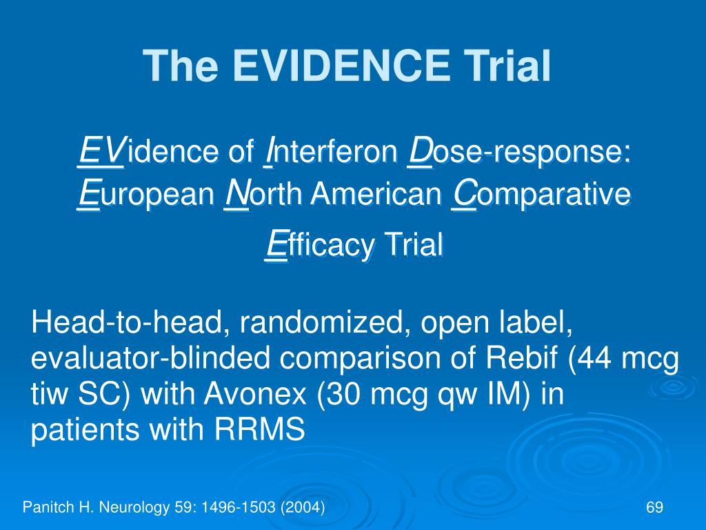 The EVIDENCE Trial