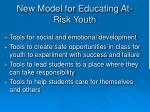 new model for educating at risk youth