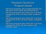 research questions program based