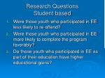 research questions student based