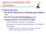 sports for individuals with disabilities