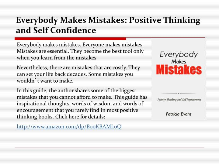everybody makes mistakes positive thinking and self confidence n.