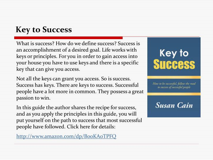 key to success n.