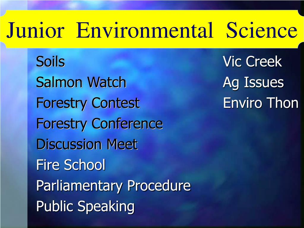 Junior  Environmental  Science