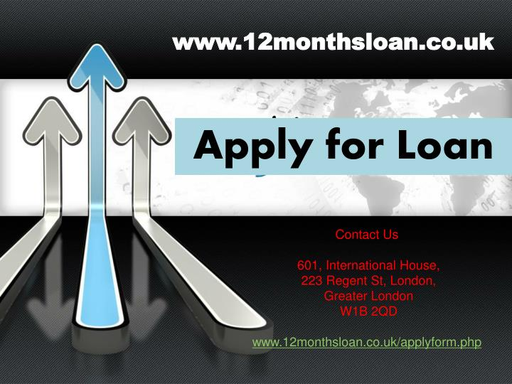 www.12monthsloan.co.uk