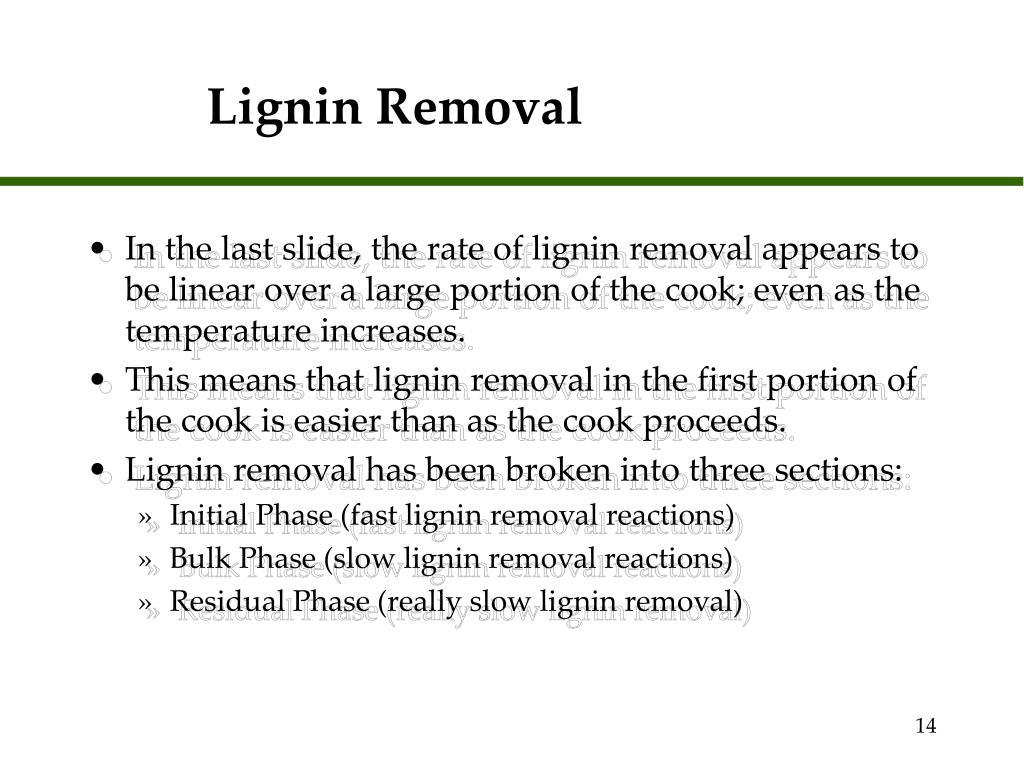 Lignin Removal