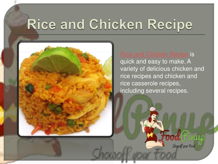Rice and Chicken Recipe