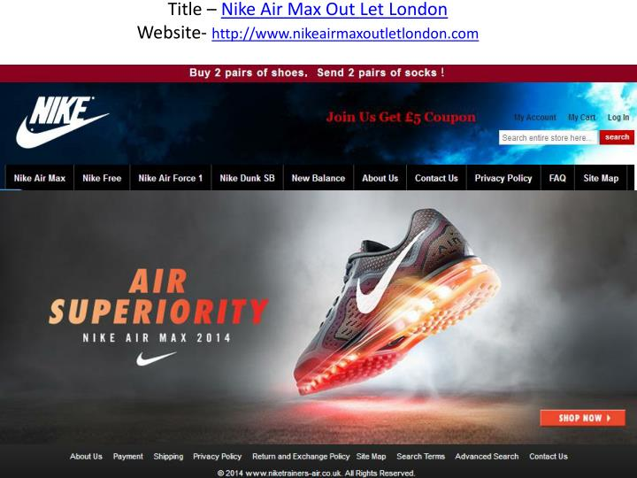 tienda Persona Oxidar  PPT - Nike Air Max Out Let London PowerPoint Presentation, free download -  ID:1496655