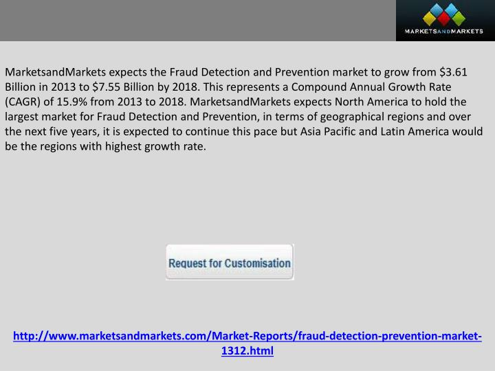 global fraud detection and prevention market Portland, oregon and pune, india, february 16, 2018 /prnewswire/ --  global fraud detection & prevention market expected to reach.