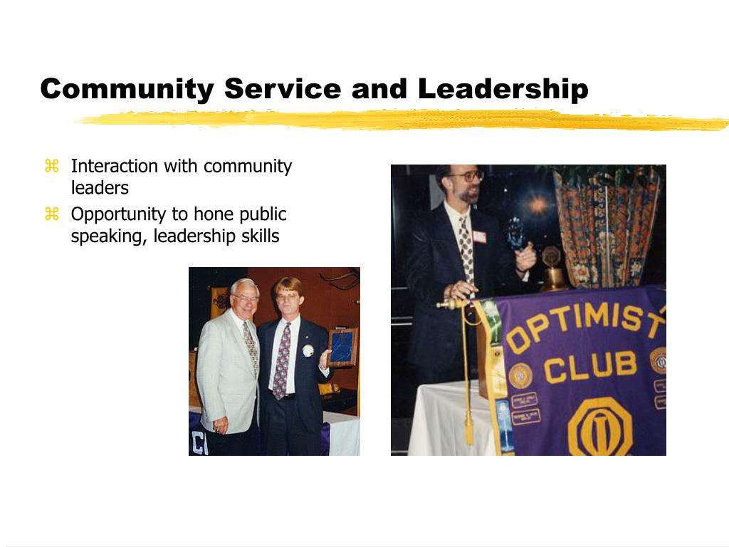 Community Service and Leadership