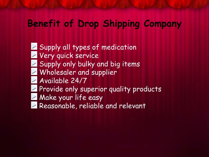 Benefit of Drop Shipping Company