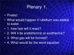 plenary 1