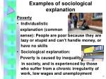 examples of sociological explanation10